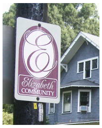 Elizabeth Neighborhood Sign